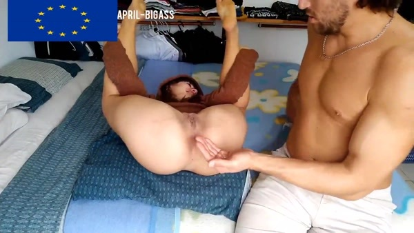 April BigAss - Fisting My Girlfriend With Two Hands, She Screams Real Orgasm [FullHD 1080p]