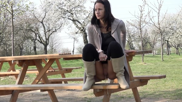 I decided to pee on the edge of a park bench (FullHD 1080p)