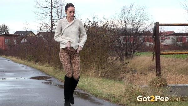 The girl wanted to pee right on the go (FullHD 1080p)