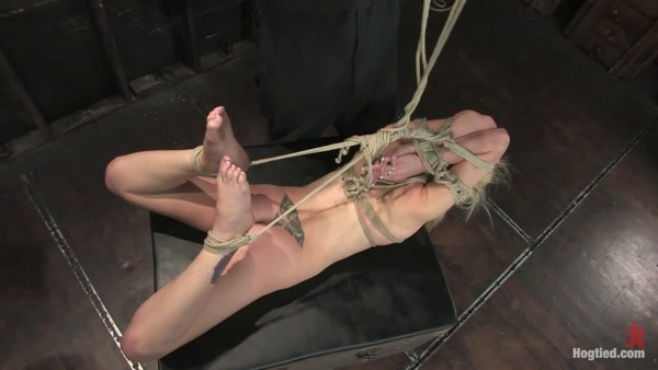 Samantha Sin, Matt Williams - blond, shaved, toned, and a former gymnast - now a first time bondage model! (HD 720p)