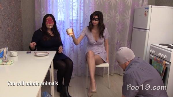 Mistress Kamilla and Mistress Karina - Chocolate lunch from Karina and Kamilla (2020 / FullHD 1080p)