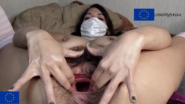 Littlelillyfckslut - Self Pussy Fisting - Rubbing and Stretching my Big Hairy Pussy - Nice Gapes and Pussy Meat (2020 / FullHD 1080p)