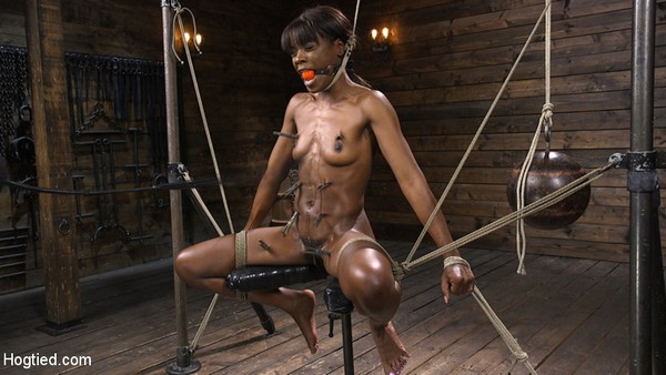 Ana Foxxx - Bondage and Domination - Ana Foxxx is Racked, Bound, and Tormented (HD 720p)