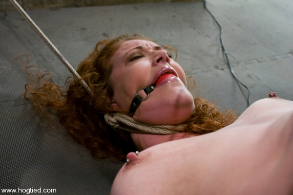 Sabrina Fox - Bondage and Domination - Welcome Sabrina Fox, For Her First Hogtied Experience - We Love Natural Red heads (HD 720p)