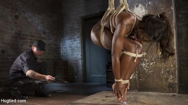 Ana Foxxx - Stunning Ebony Slut in Brutal Bondage and Tormented (HD 720p)