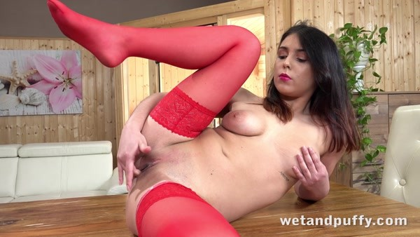 Teana - Solo play with Dildo - Ravishing in Red (2020 / 4K 2160p)