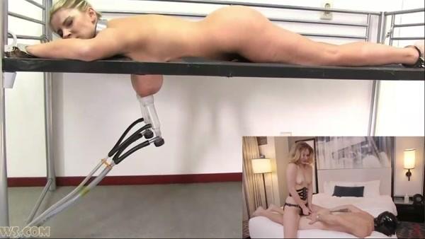 Bondage and Dominatrix - Milking machine and Strapon (HD 720p)