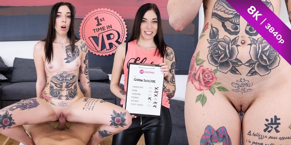 Tattooed Italian Slut, Giada Suicide, 02 Dec 2020, 3d vr porno, HQ 3840