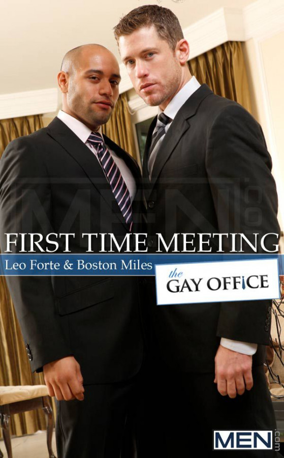 MEN - The Gay Office - First Time Meeting - Leo Forte & Boston Miles 1080p