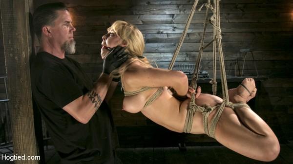 Cherie Deville - BDSM, Bondage and Torture - Buff MILF Cherie Deville Submits To Rope Bondage And Unwilling Orgasms (HD 720p)