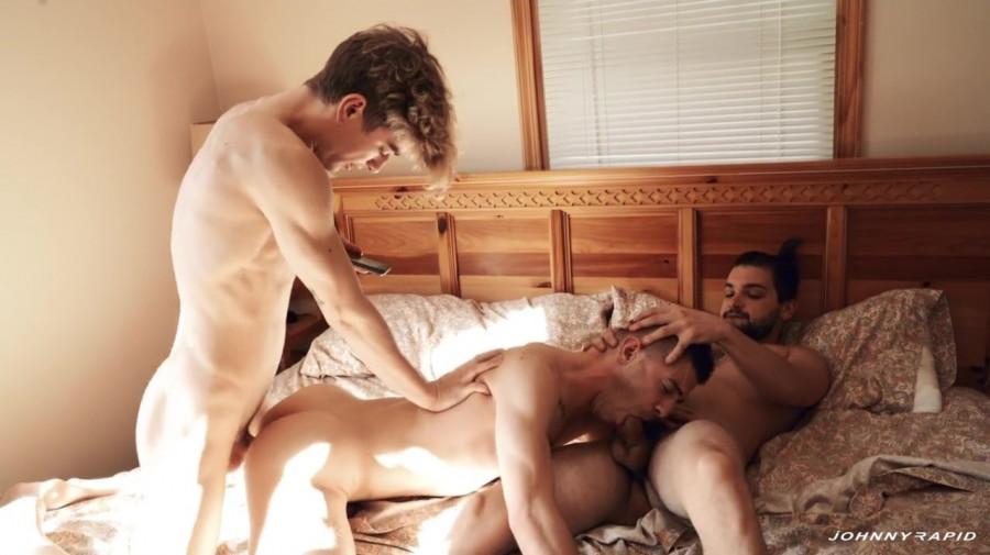 JohnyRapid - Double Penetration, Double Facial - Johnny Rapid, Tom Bentley & Jesse Bolton