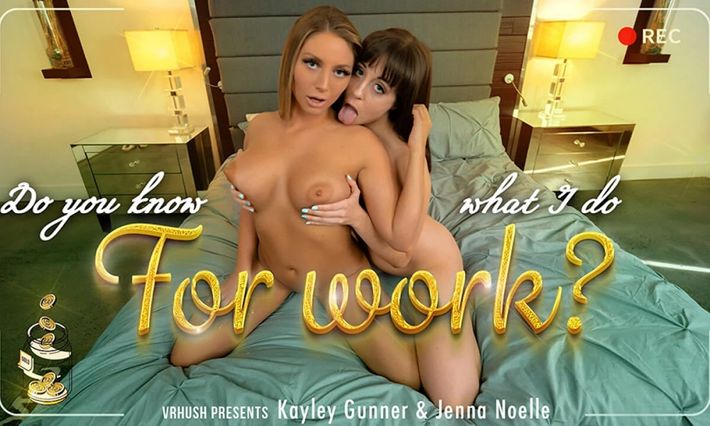 Do You Know What I Do For Work? Jenna Noelle, Kayley Gunner, Feb 21, 2021, 3d vr porno, HQ 2700