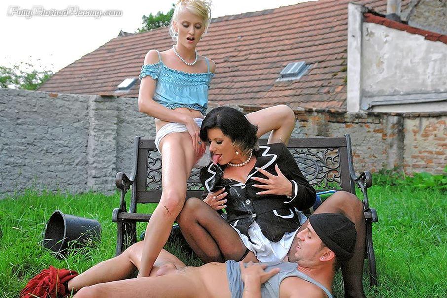 Housemaids And Farmer