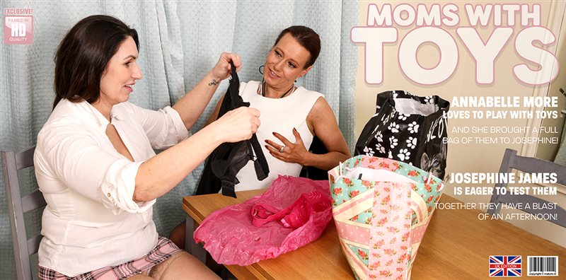 These hot moms have a bag of toys and are ready to try them all...om eachother!