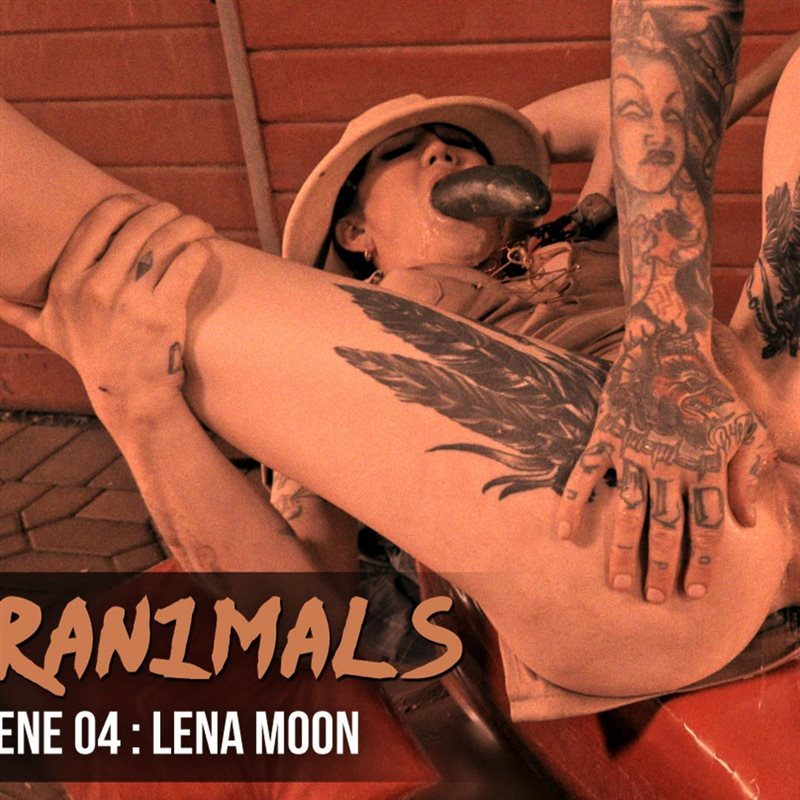 TS Lena Moon: Anal Gaping + Milk Enema
