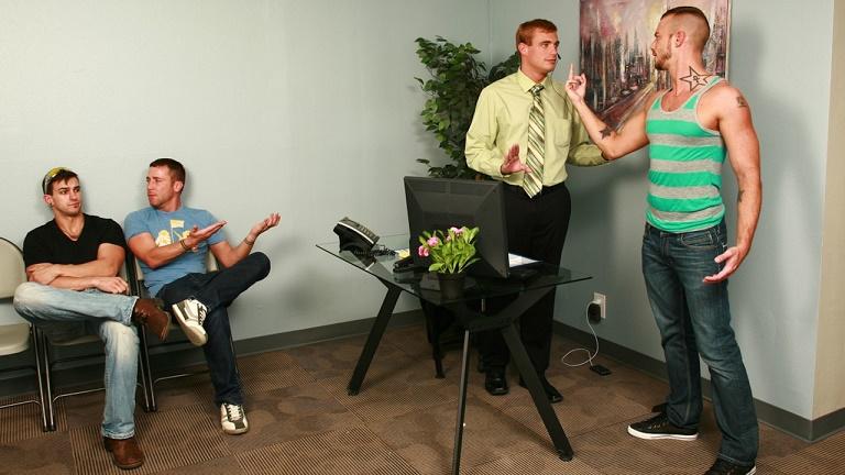 MEN - TheGayOffice - Bitchy Receptionist - Jessie Colter, Jessy Ares & Ryan Raz