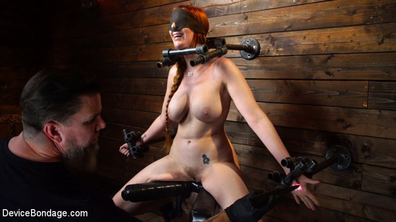 Lauren Phillips: Helpless Redhead in Brutal Bondage Made to Cum
