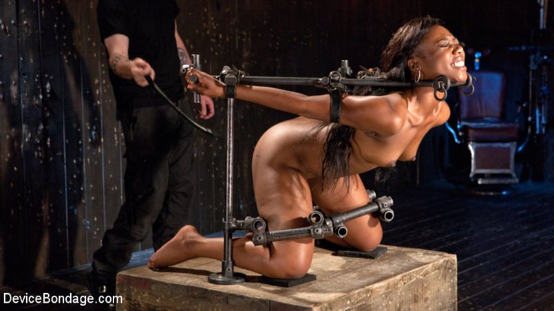 Ebony Pain Slut is Captured in Brutal Devices