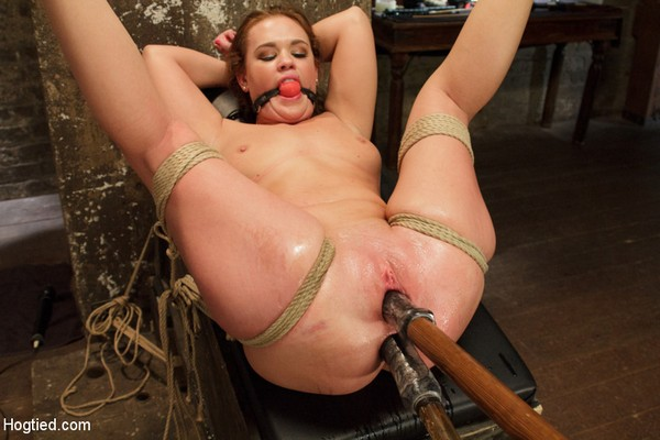 Roxy Raye - BDSM and Bondage - Double Penetration Anal Whore Gets The Squirting Shocker! (HD 720p)
