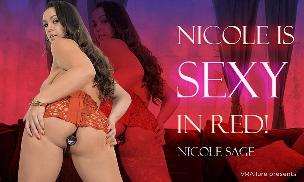 Nicole Is Sexy In Red! Nicole Sage, Mar 28, 2021, 3d vr porno, HQ 2700
