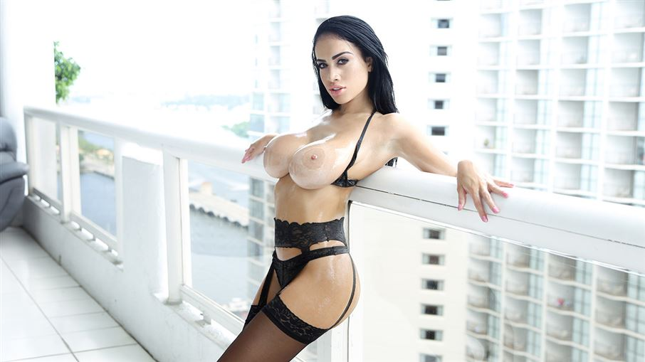 Big Tits In Black Lingerie
