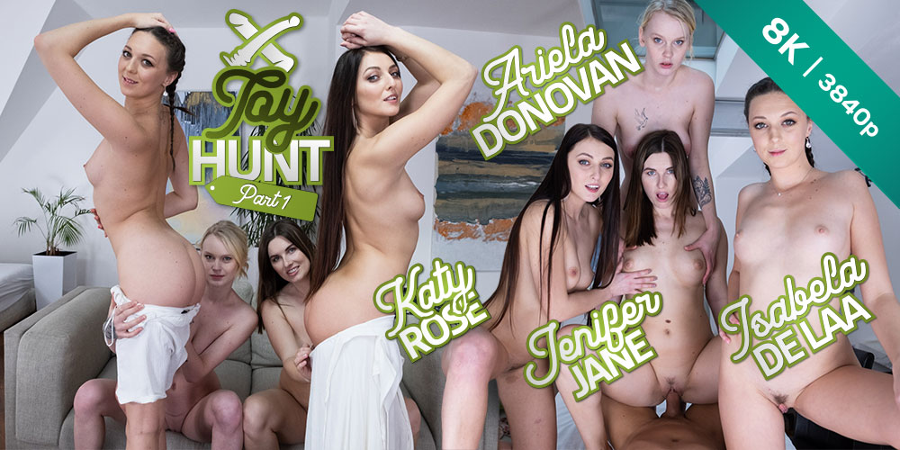 Toy Hunt: Part 1, Ariela Donovan, Isabela De Laa, Jenifer Jane, Katy Rose, 03 Apr 2021, 3d vr porno, HQ 3840