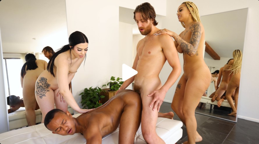 Saucy 4-Way!! - Ivy Steele, Apollo Parker, Thomas Rosewood & Alyssa Amethyst Fuck For The Moon!