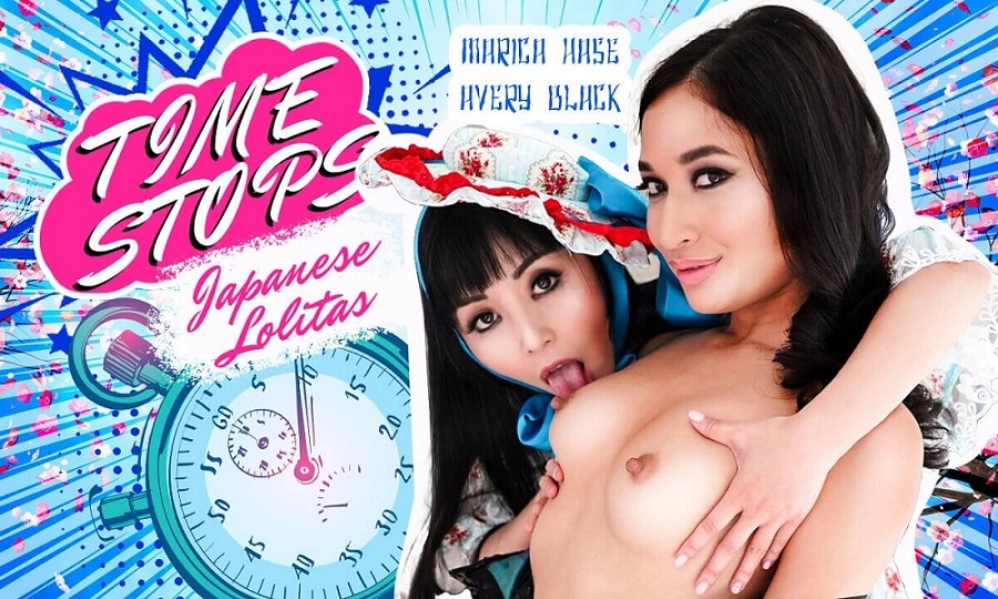 Time Stops Japanese L0litas, Marica Hase, Avery Black, Apr 19, 2021, 3d vr porno, HQ 2900