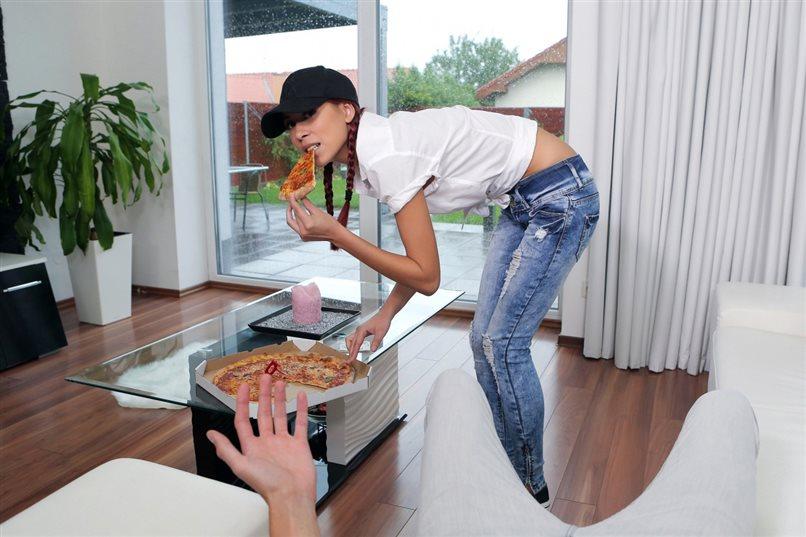 Cheeky Pizza Girl