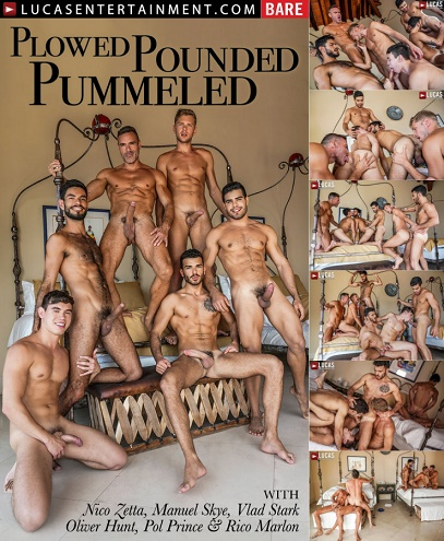 LE - Plowed, Pounded, Pummeled 11-Man Orgy Part 01