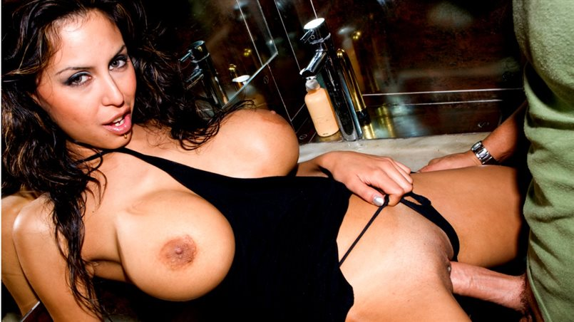 Brunette Beauty Alejandra has Huge Tits and Face Full of Cum