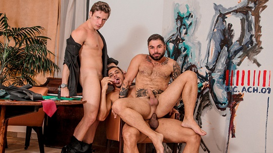 MeninosOnline - Russo (Boy Lixo) & Thiago & Fabio - Bareback (Cassino)