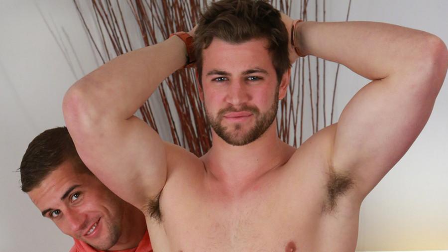 Englishlads - Bonus Video of Cory's Photo Shoot - Straight Rugby Stud gets his 1st Manhandling (Dan Broughton)