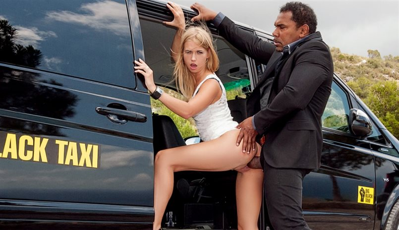 Violette Takes a Black Taxi and Then the Black Cock of the Driver