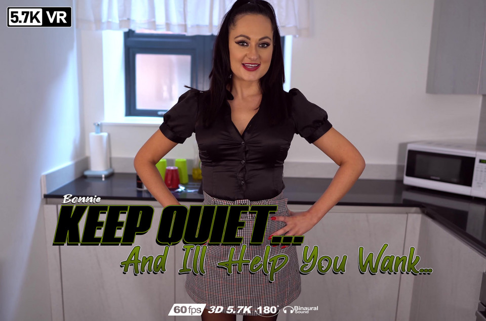 Keep Quiet And I'll Help You Wank, Bonnie, May 3, 2020, 3d vr porno, HQ 2880