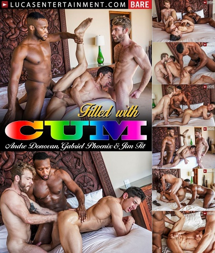 LucasEntertainment - Jim Fit Takes Double Penetration From Andre Donovan And Gabriel Phoenix