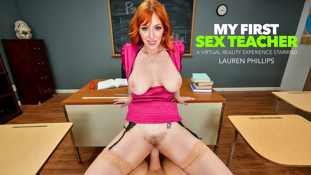 """You need an """"A"""" in Ms. Lauren Phillips' class and she wants your big cock in her pussy as a trade!! Lauren Phillips, Jun 14, 2021, 3d vr porno, HQ 2048"""