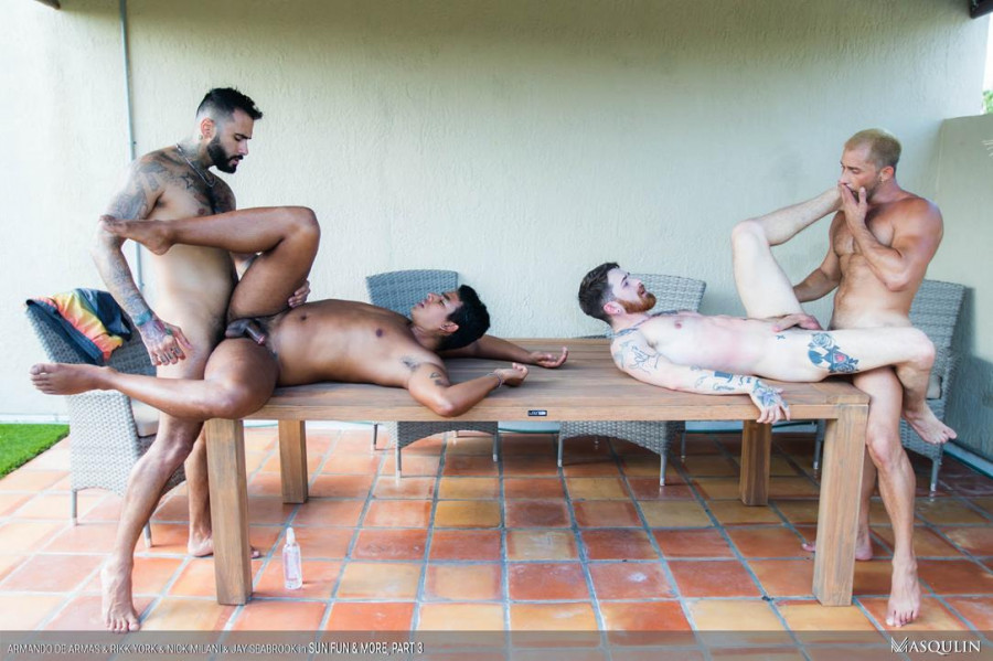 Masqulin - Armando De Armas, Jay Seabrook, Nick Milani & Rikk York - Sun, Fun and More, Part 3