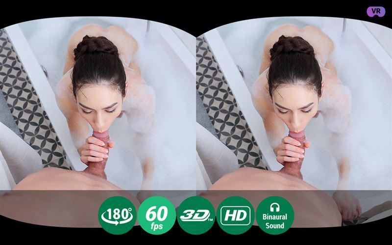 Wet Brunette Enjoys Bubble Bath and Hardcore Fuck