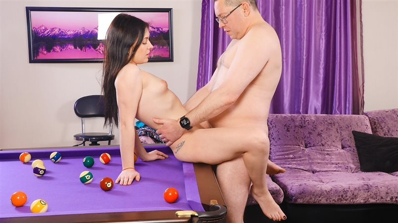 Pool lesson opens fresh pussy