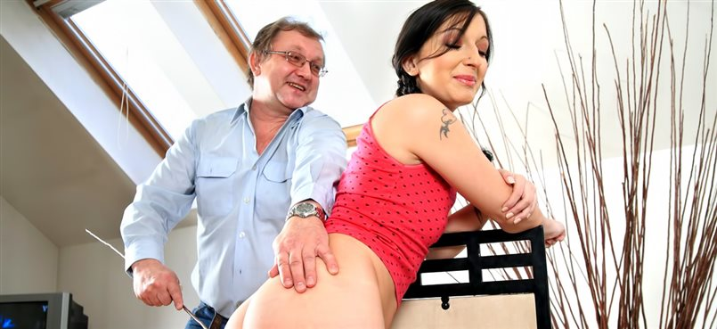 Hot babe and her tutor