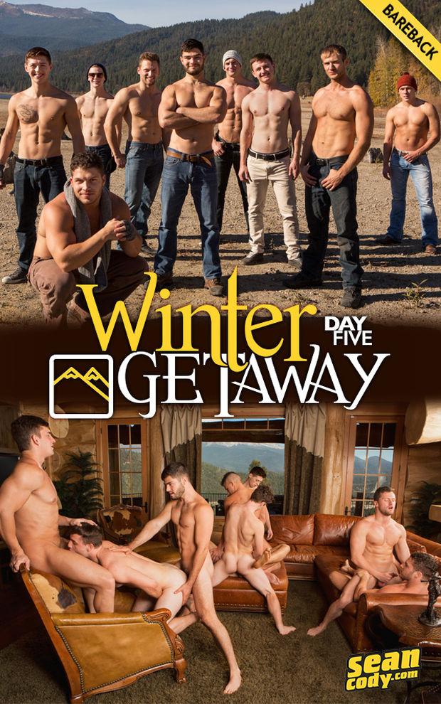 SC – Winter Getaway: Day 5 (9-Man Bareback Fuck-Fest)