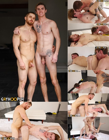 GayHoopla - Thomas Fry Bends Over And Gets DRILLED By Dustin Hazel