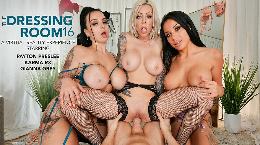 Lucky guy can't resist cheating on his girlfriend, Karma Rx, Payton Preslee, Gianna Grey, Jul 23, 2021, 3d vr porno, HQ 2048