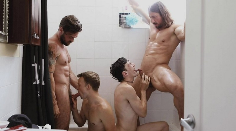 OnlyFans - Blooming Bromance In The Shower Featuring Edward Terrant, James Fox, Brent North & Darenger McCarthy
