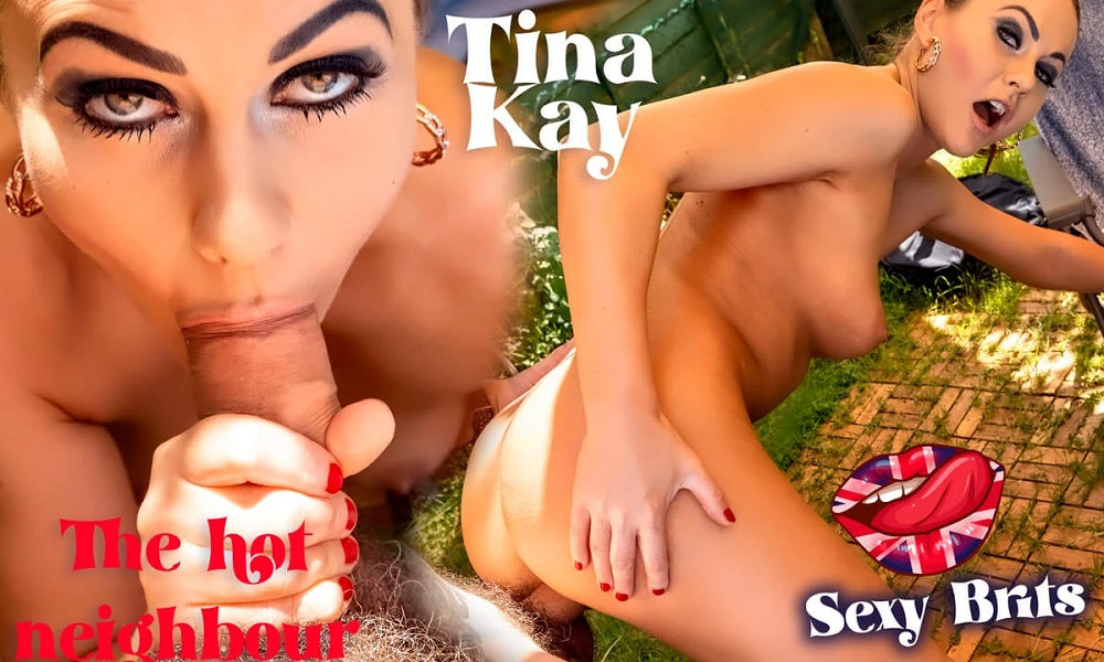 The Hot Neighbour Sunbathing In The Garden, Tina Kay, 01 August, 2021, 3d vr porno, HQ 2880