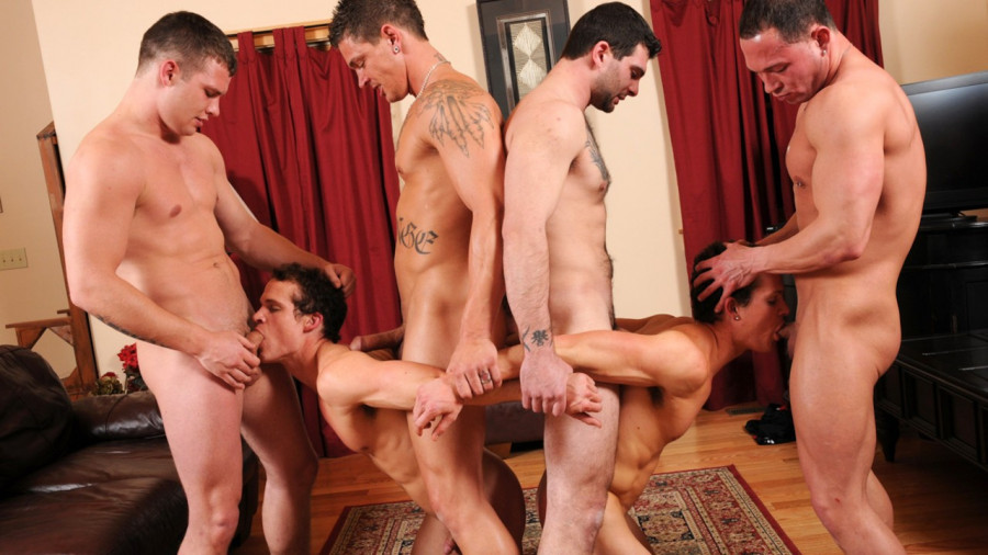 MEN - Jizz Orgy - Disqualified - Tony Paradise, Sebastian Young, Rosso Twins, Hayden Richards, Aaron Anderson