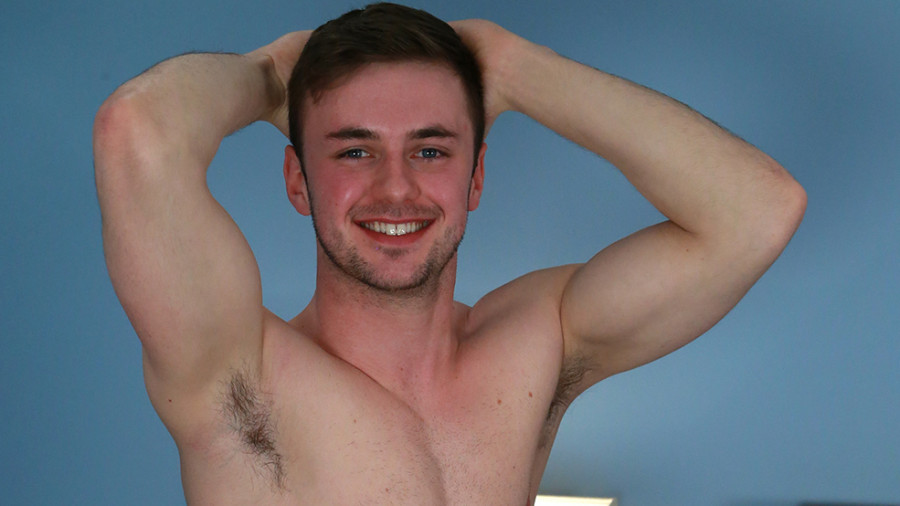 EnglishLads - Young And Muscular Straight Stud Showing Off His Big Uncut Cock