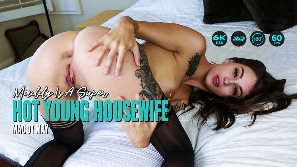 Maddy Is A Super Hot Young Housewife, Maddy May, 12 August, 2021, 3d vr porno, HQ 2880