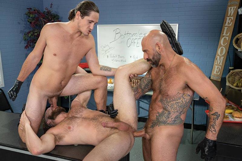 FistingCentral - Bottomless Cafe, scene 02 - Brian Bonds, Drew Sebastian, Tony Orlando